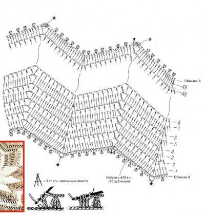 Падушка вязаная схема вязания