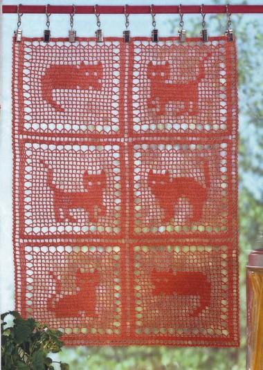 Зановеска филейное вязание