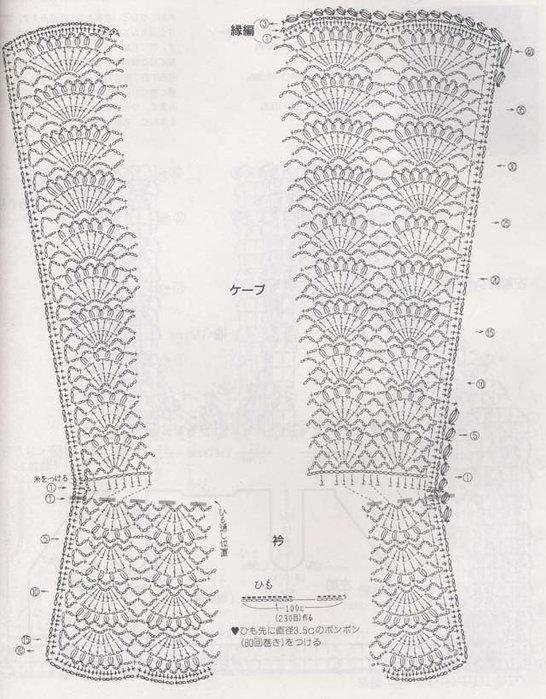 накидочка для девочки схема вязания