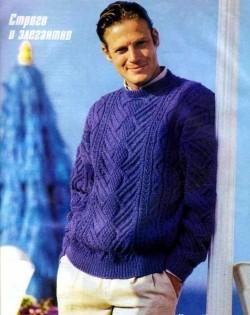 пуловер вязание для мужчин