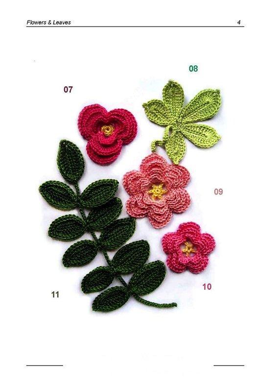 Вязаный букет из цветов