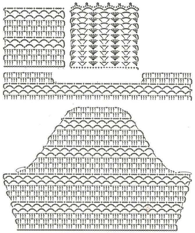 жакет вязаный крючком схема вязания