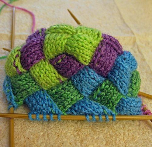 Цветные носочки спицами начало вязания