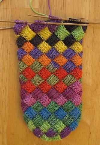 Цветные носочки спицами
