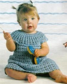 платье для девочки вязаное крючком
