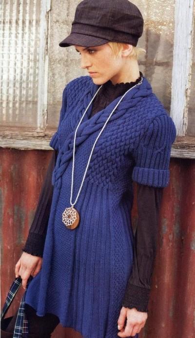 Мини-платье с рельефным узором