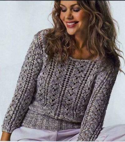 Пуловер с высокой резинкой