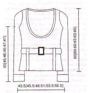 пуловер вязаный спицами выкройка