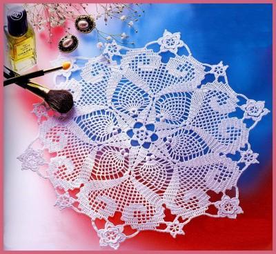Схема вязаной салфетки