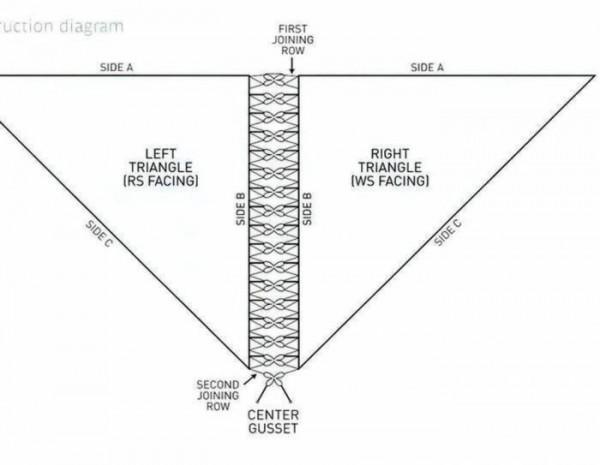 шаль схема вязания крючком бесплатно