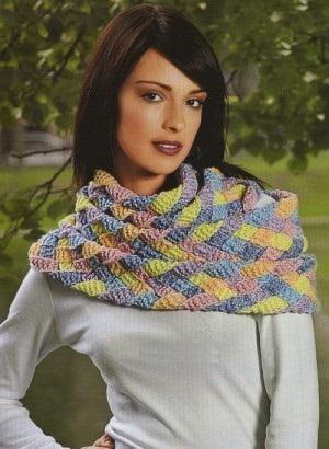 шарф плетёнка