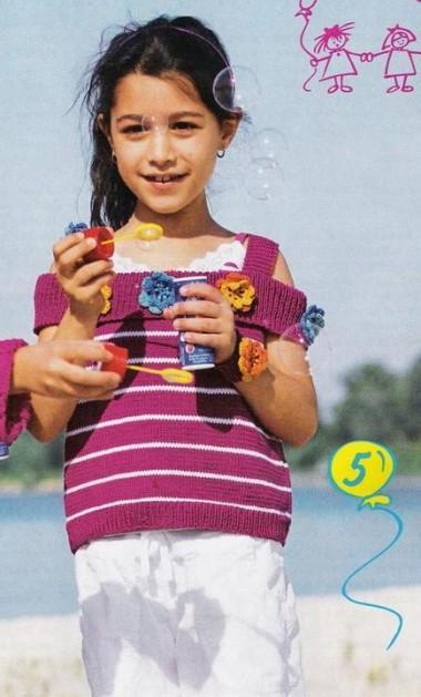 вязание топа ребенку