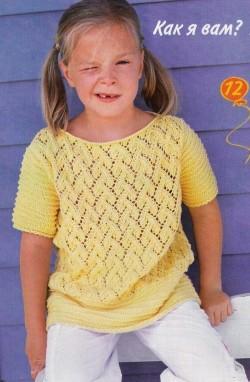 пуловер вязание для девочек