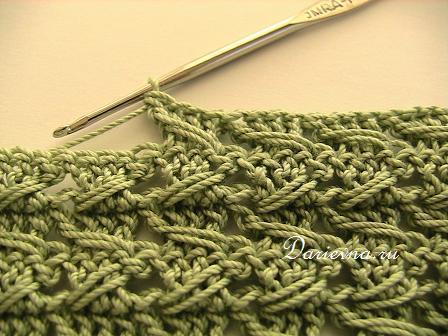 Узор для полотна крючком вязание