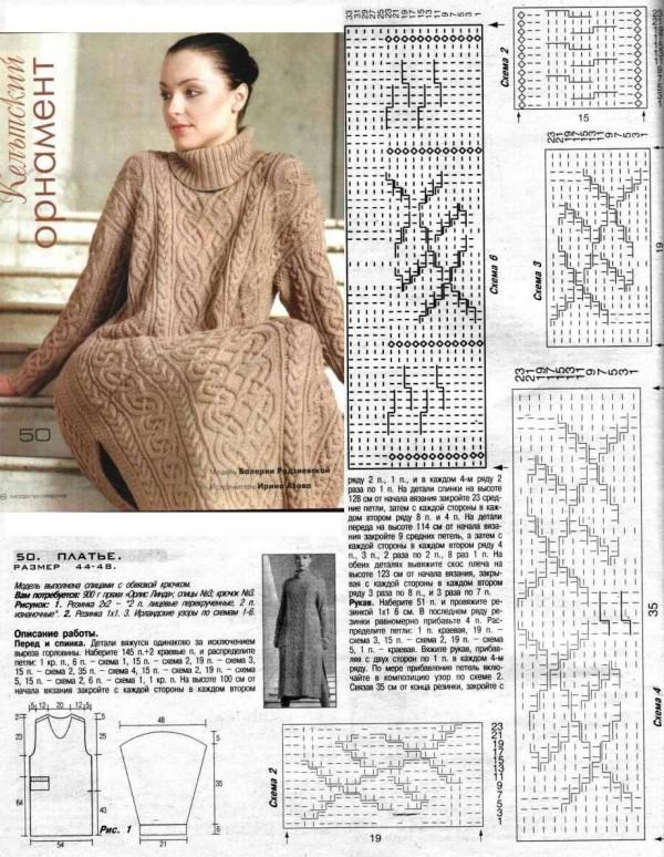 платеье спицами вязание бесплатно