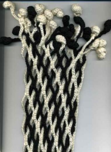 шарф оригинально связанный крючком
