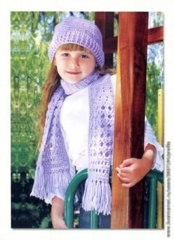 вязание шапки и шарфа