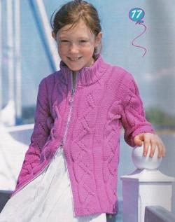 вязание детям жакета