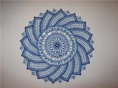 салфетка вязание схема