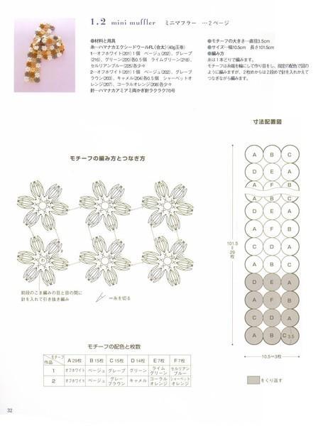 Схема цветок вязание