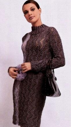 платье вязаное для женщины