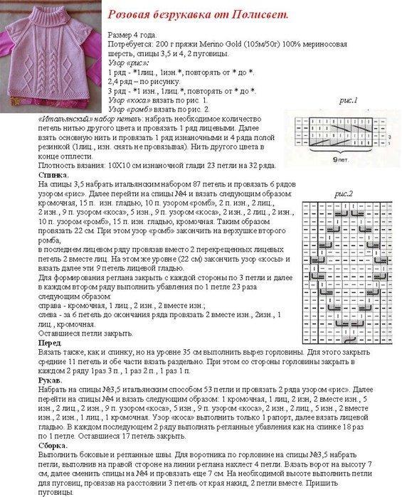 Вязаная безрукавка для модниц описание вязания