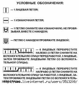 ШАПОЧКА С УЗОРОМ ИЗ КОС схема вязания