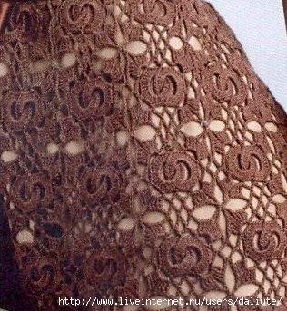 элемент вязаного платья
