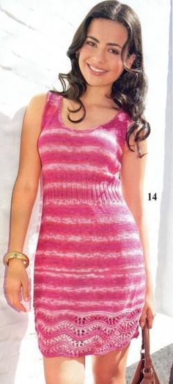 мини платье спицы