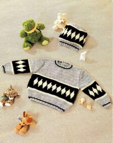 для малыша пуловер
