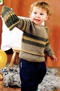 Пуловер и шапка для ребенка
