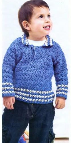 для мальчика пуловер