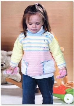 Пуловер девочке возраст 2-3 года