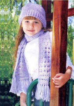 Шапка и шарф для ребенка