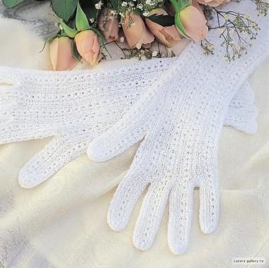 Ажурные перчатки для невесты