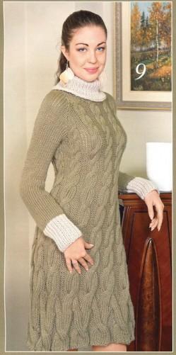 Платье вязание спицами