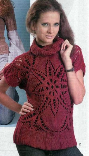 пуловер ажурный - 2