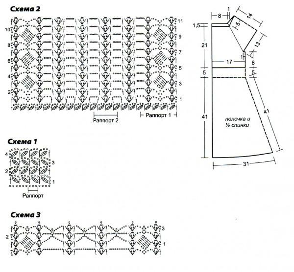 Сиреневый сарафан схема вязания