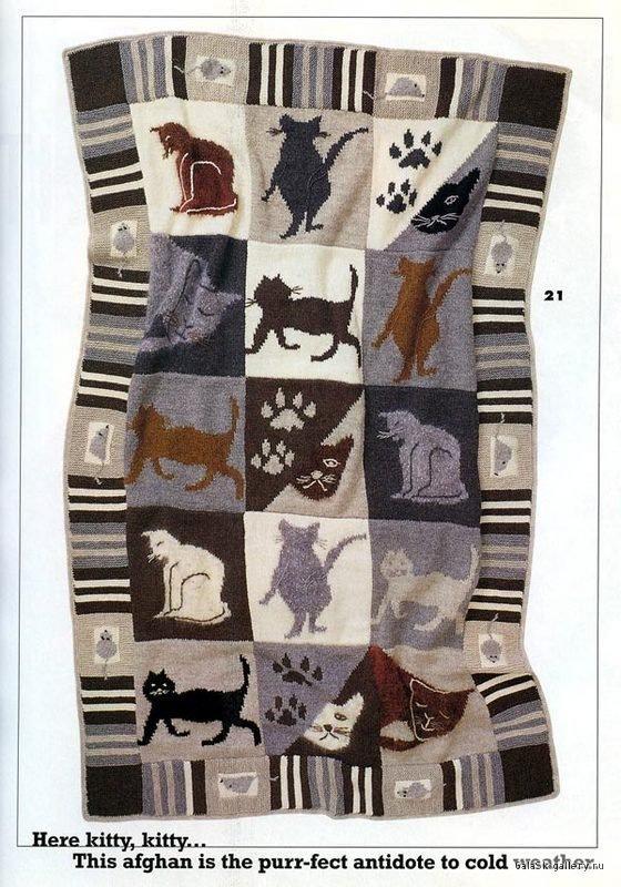 Одеяло вязаное спицами