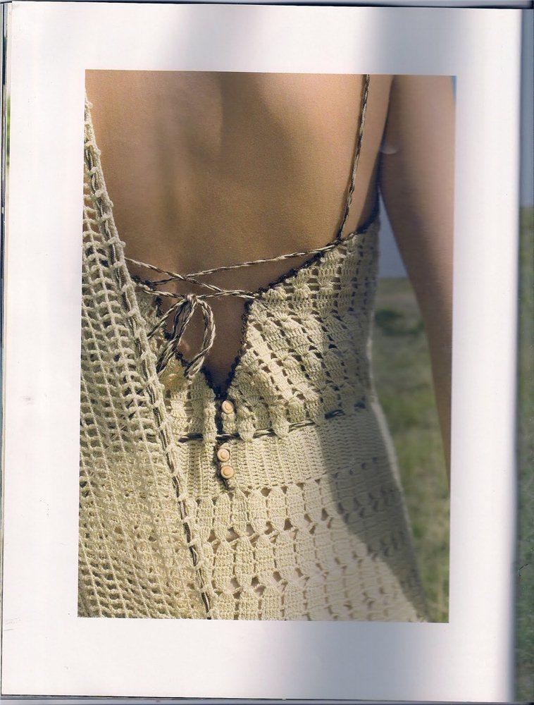 спина вязаного платья