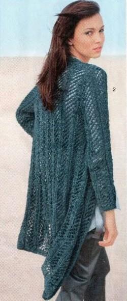 Ажурный жакет вязание спицами
