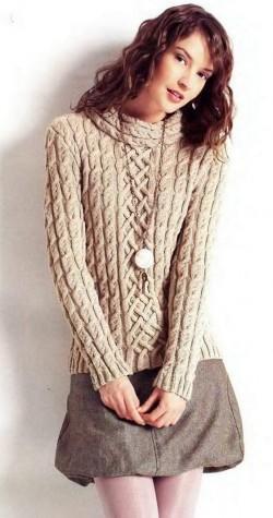 пуловер вязание спицами