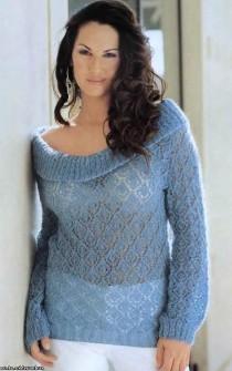 Пуловер из мохера вязание спицами