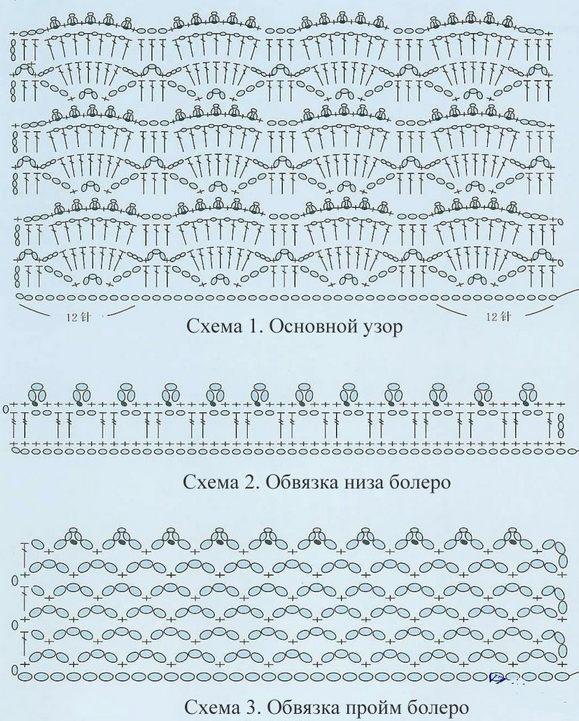 вязание болеро