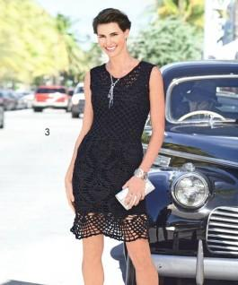 Чёрное платье крючком