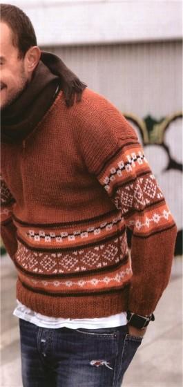 Терракотовый свитер для мужчины
