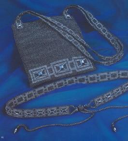 сумка и пояс из бисера