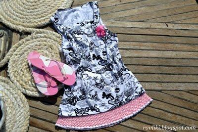 Розовая юбка крючком