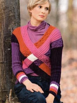 Разноцветный пуловер