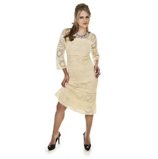 Платье - мотивы, крючок.